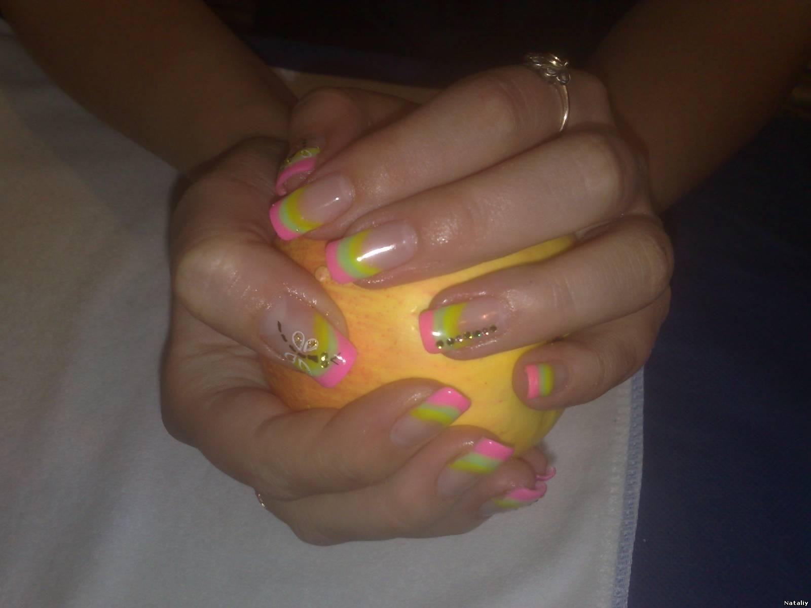 Фото нарощенных ногтей у подростков
